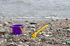Little baby bucket and shovel Stock Image