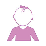 Little baby character icon Royalty Free Stock Photography