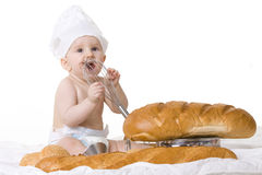 Little baby chef Stock Photos