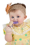 Little baby chews toy Stock Photography