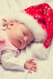 Little baby with the christmas Stock Image