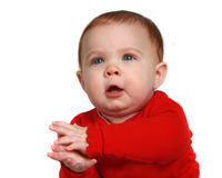 Little baby clapping her hands Royalty Free Stock Photography