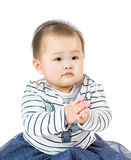 Little baby clapping Royalty Free Stock Photography