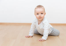 Little baby crawling Stock Photos