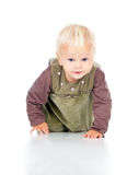 Little baby crawls Royalty Free Stock Photography