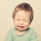 Little baby crying. (9-12 months stock photography