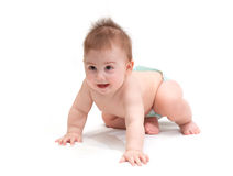 Little baby in diaper sitting Royalty Free Stock Photo