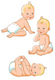 Little baby in diaper. Small child in a diaper. vector illustration royalty free illustration