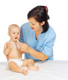Little baby with doctor Royalty Free Stock Images