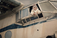 Free Little Baby Dreaming Of Being Pilot Stock Images - 32152164
