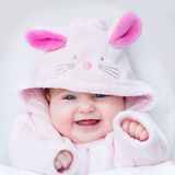 Little baby dressed as bunny Stock Image