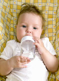 Little baby drink Stock Photos