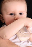 Little baby drink milk Stock Photo
