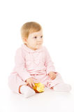 A little baby eat the Apple Royalty Free Stock Photos