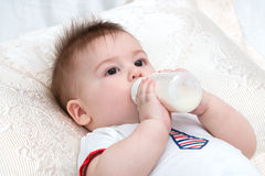 Little baby eating Royalty Free Stock Photo