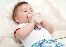 Little baby eating Royalty Free Stock Image