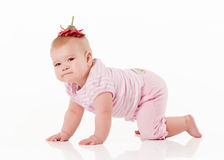 Little baby with flower Stock Photo
