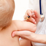 Little baby get an injection Royalty Free Stock Photos
