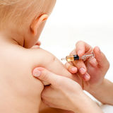 Little baby get an injection Royalty Free Stock Images