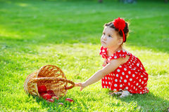 Little baby girl Stock Photography