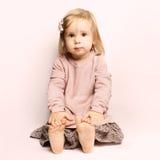Little baby girl beautiful child Stock Image