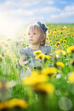 Little Baby Girl. Child Outdoors Royalty Free Stock Photos