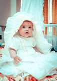 Little Baby Girl Before the Christening Royalty Free Stock Image