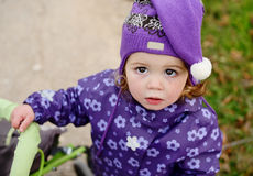 Little baby girl is crying Royalty Free Stock Photography