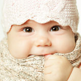 Little baby girl, cute face Royalty Free Stock Images