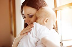 Little baby girl with her mother Royalty Free Stock Photo