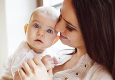 Little baby girl with her mother Royalty Free Stock Photography