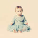 Little baby girl, lovely card Royalty Free Stock Photography