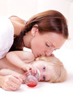 Little baby girl and mother Royalty Free Stock Photography