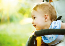 Little Baby Girl Outdoors Royalty Free Stock Photos