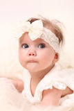 Little Baby Girl in Pink dress Royalty Free Stock Photography