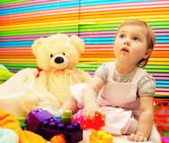 Little baby girl playing Royalty Free Stock Image