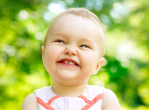 Little Baby Girl Portrait Stock Photography