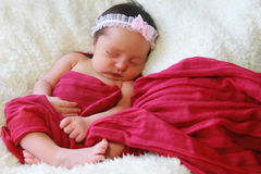 Little baby girl Stock Photos