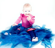Little baby girl posing. Royalty Free Stock Image