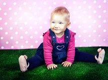 Little baby girl posing. Royalty Free Stock Photography