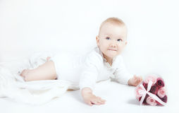 Little baby girl posing. Royalty Free Stock Photo