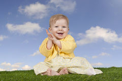 Bravo: baby clapping hands Stock Photos