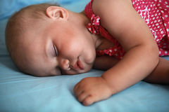 Little baby girl sleeps Royalty Free Stock Images