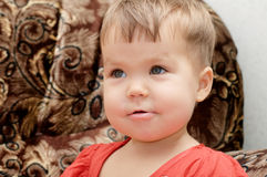 Little baby girl smiling portrait Royalty Free Stock Photo
