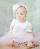 Little baby girl wearing beautiful dress Royalty Free Stock Images