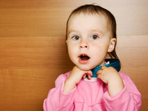 Little baby grievously looking Royalty Free Stock Photos