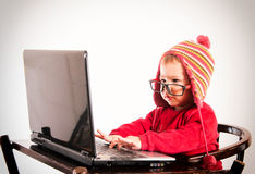 Little baby hacker Stock Image
