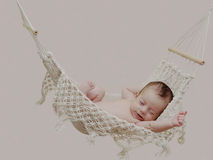 Little baby in hammock Stock Photo