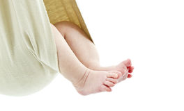 Baby in a  wrap Royalty Free Stock Photo