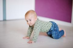 Little baby at home Stock Photography